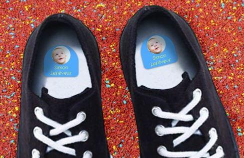 étiquettes de crèches pour chaussures