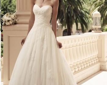 Le choix d'une robe de mariée.